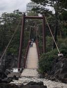 城ヶ崎海岸の吊橋